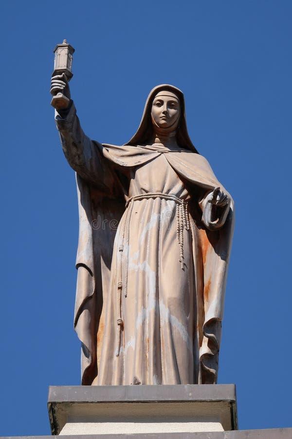 Святой Клара Assisi стоковая фотография