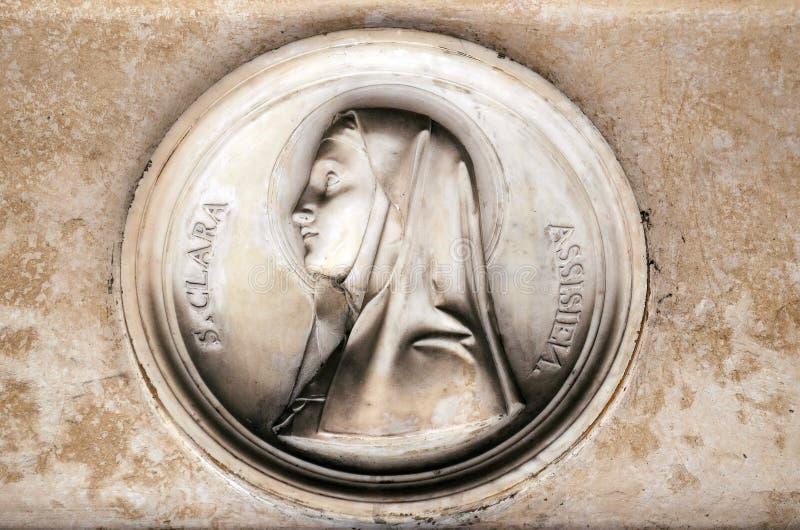 Святой Клара Assisi стоковое изображение rf