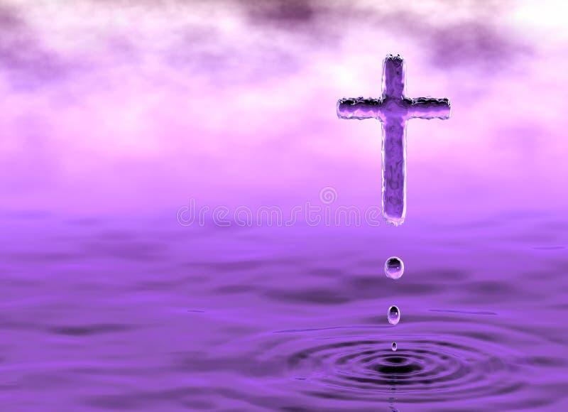 Святой крест в облаках иллюстрация вектора