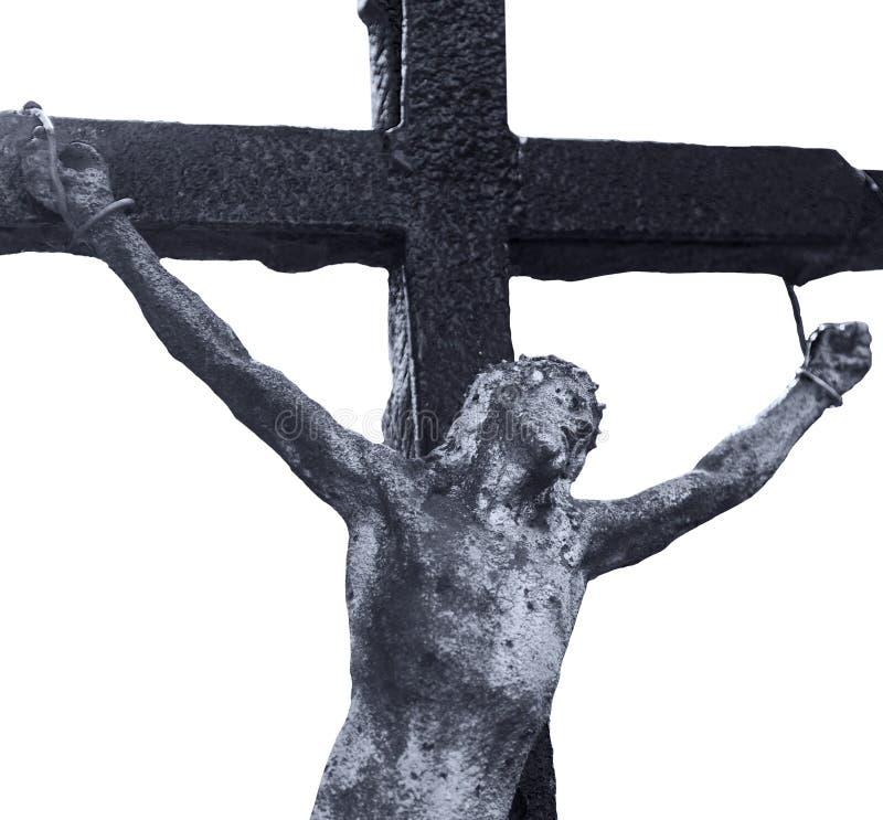 Святой крест с распятым вероисповеданием Иисуса Христоса, верой, святым, s стоковые фотографии rf