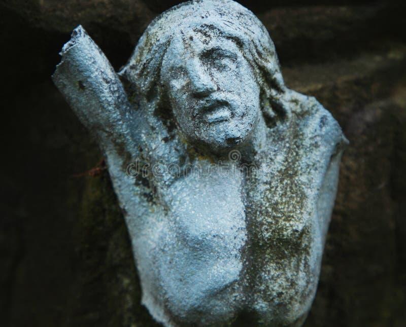 Святой крест с распятым Иисусом Христосом (частью старого sta стоковая фотография