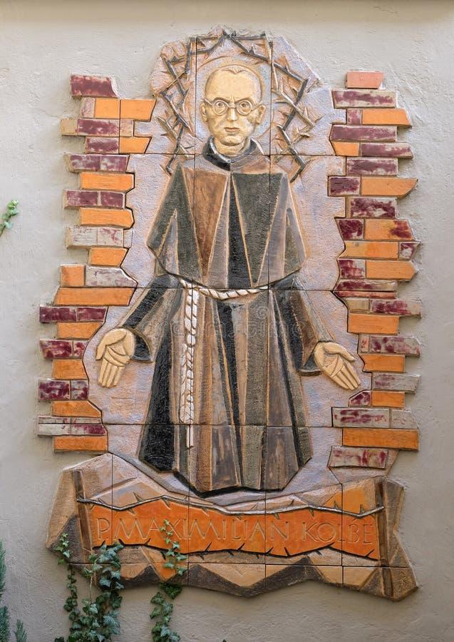 Святой Максимилиан Kolbe стоковая фотография