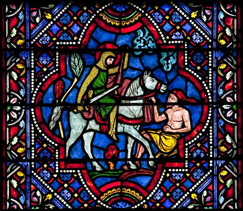 Святой Мартин цветного стекла путешествий стоковая фотография