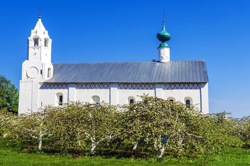 Святой монастырь Pokrovsky в Suzdal, золотом кольце России стоковые изображения rf