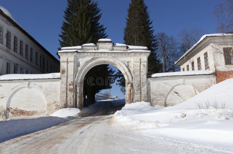 Святой монастырь Sumorin Totma, зона Vologda, Россия стоковая фотография