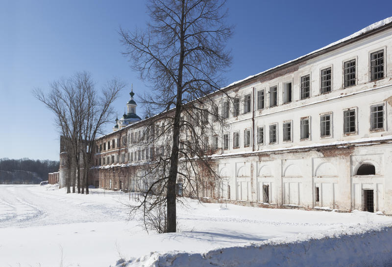 Святой монастырь Sumorin Totma, зона Vologda, Россия стоковое изображение rf