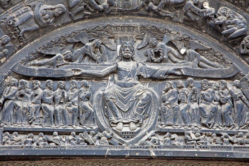святой портала denis jesus paris стоковое изображение rf