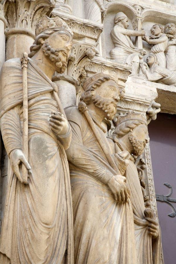 святой портала paris детали denis стоковое фото rf