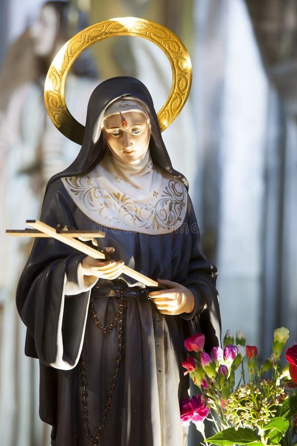 Святой Рита Cascia (принесенного Margherita Lotti 1381 - 22-ое мая 1457) стоковые изображения rf