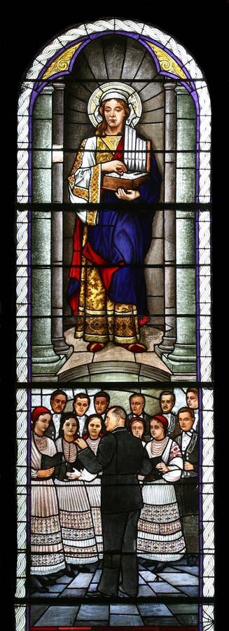 святой cecilia стоковое фото rf