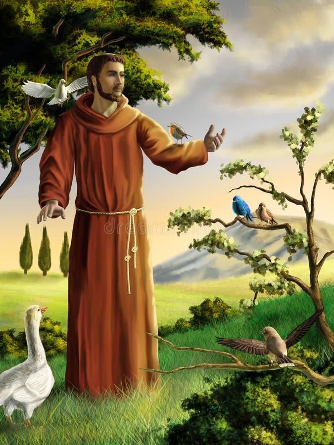 святой francis иллюстрация вектора
