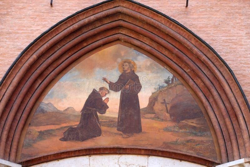 святой francis assisi стоковая фотография