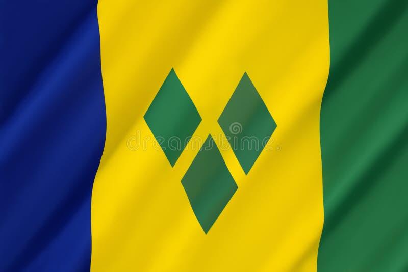 святой grenadines флага vincent стоковое изображение rf