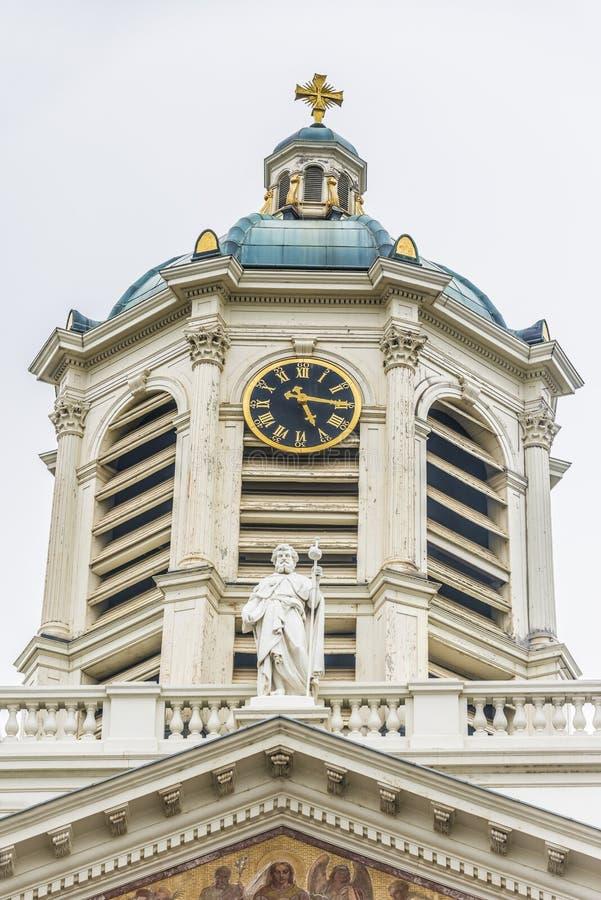 Святой jacques-sur-Coudenberg в Брюсселе, Бельгии стоковые изображения