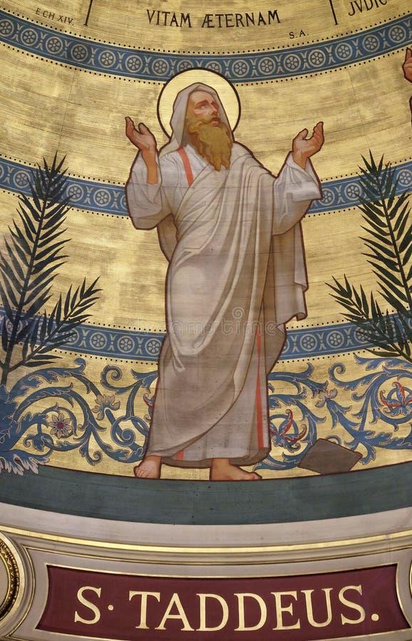 Святой Judas Thaddaeus, церковь Св.а Франциск Св. Франциск xavier в Париже стоковые изображения rf