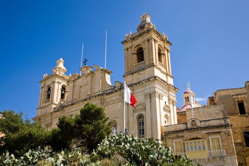 святой lawrence церков birgu стоковое изображение