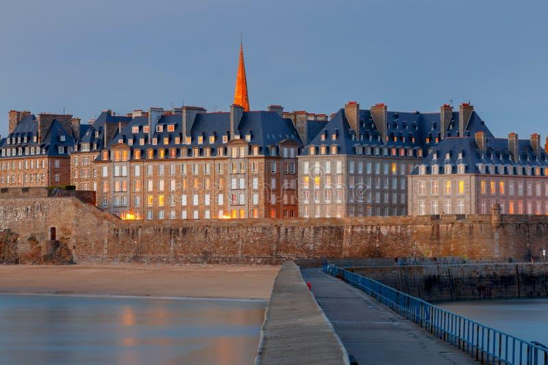 Святой Malo взгляд городка эстонии старый tallinn стоковое фото rf