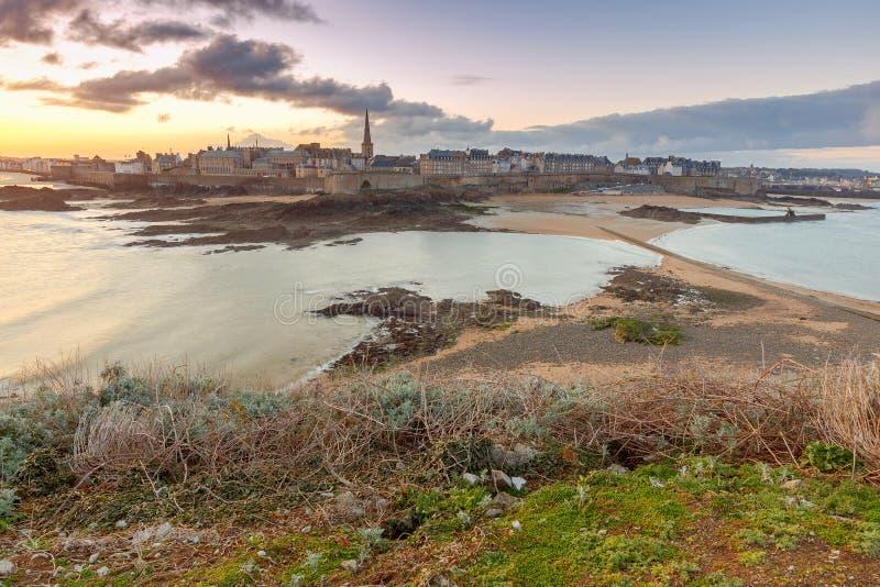Святой Malo Остров грандиозный стоковое фото rf