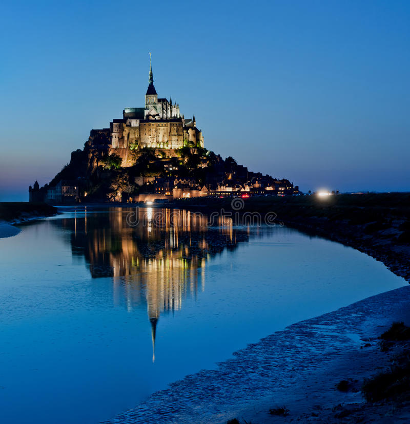 святой mont le michel стоковое изображение rf