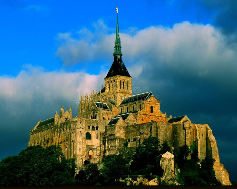 святой mont michel стоковое изображение rf