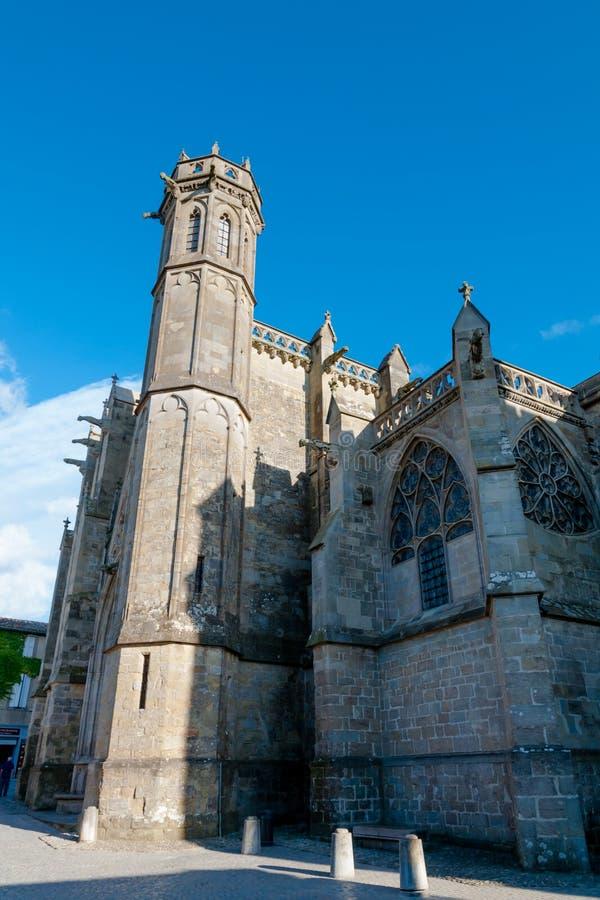 Святой Nazaire Basilique et Святой Celse на Каркассоне стоковые изображения rf