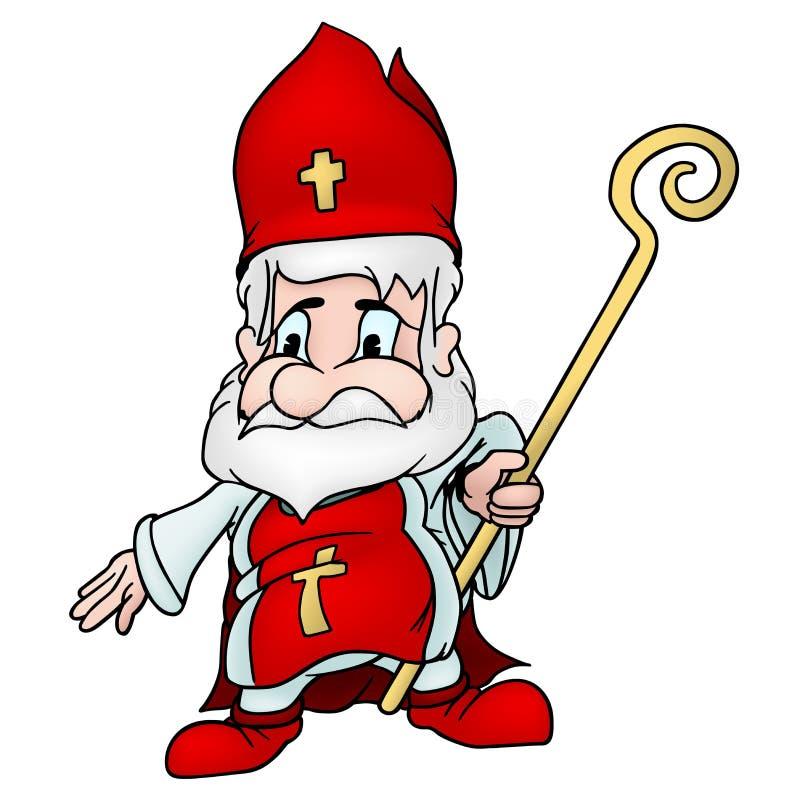 святой nicholas иллюстрация штока