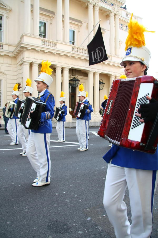 святой patrick s парада london дня стоковая фотография rf