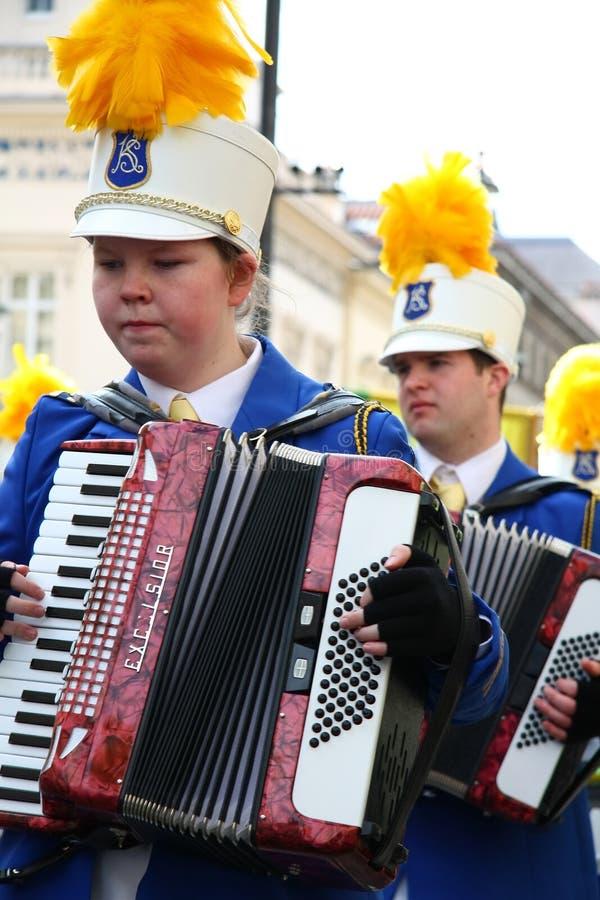 святой patrick s парада london дня стоковое изображение