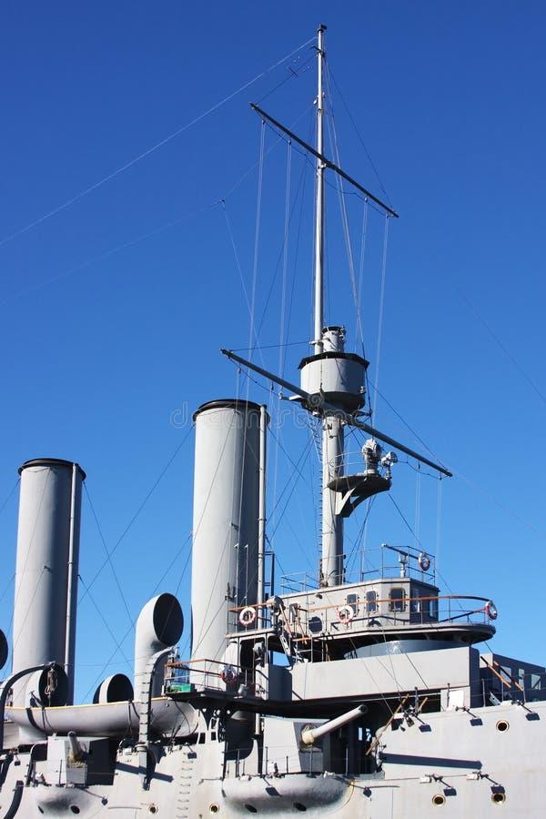 святой petersburg части крейсера города рассвета стоковое фото rf