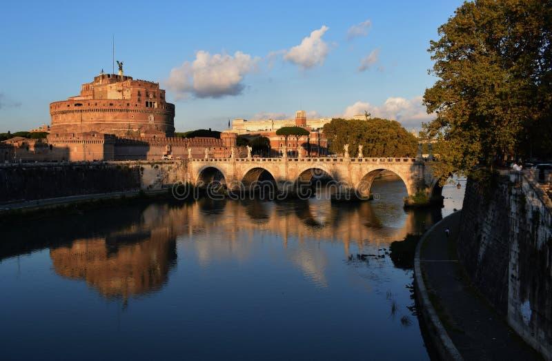 святой rome замока ангела стоковые фотографии rf