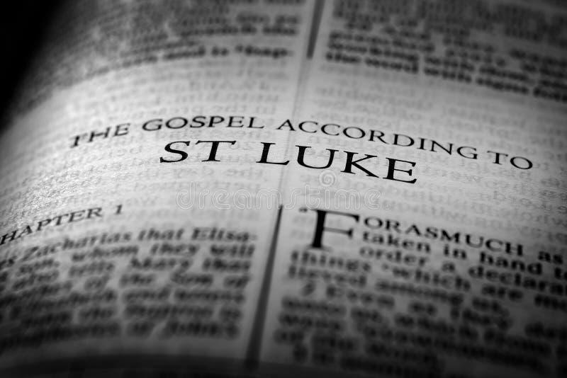 Святой St Luke Евангелия нового завета библии христианский стоковая фотография