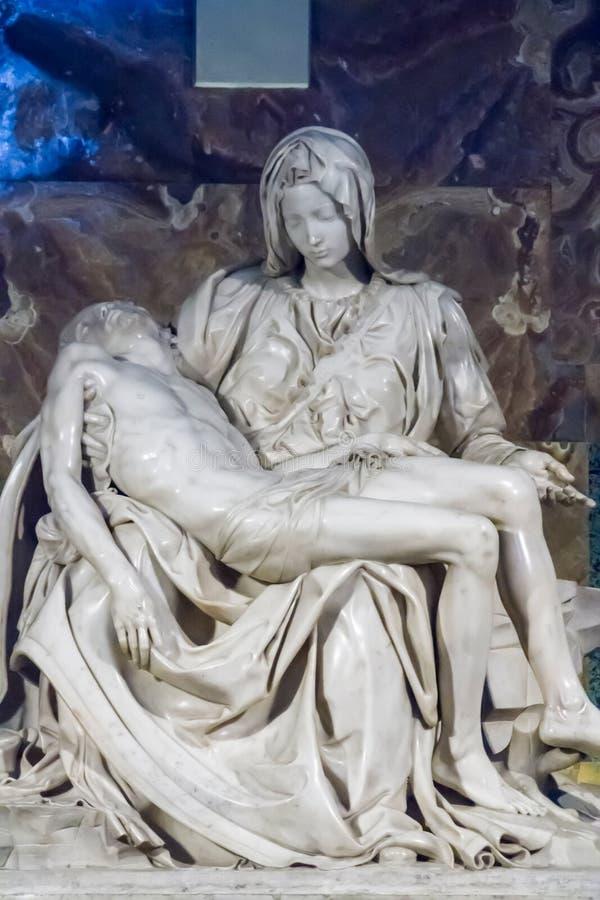 святой vatican pieta peter la базилики стоковое изображение