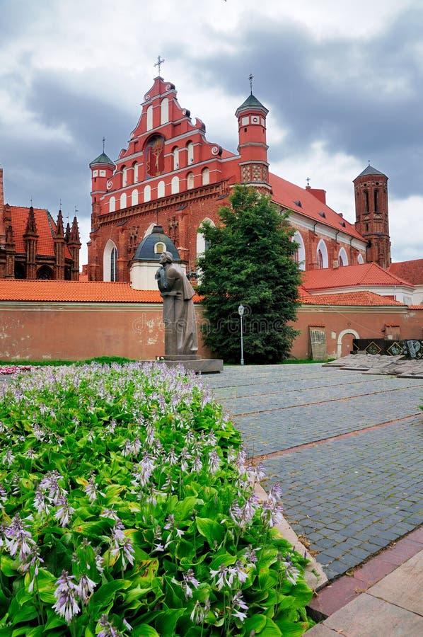 святой vilnius церков anna стоковые изображения rf