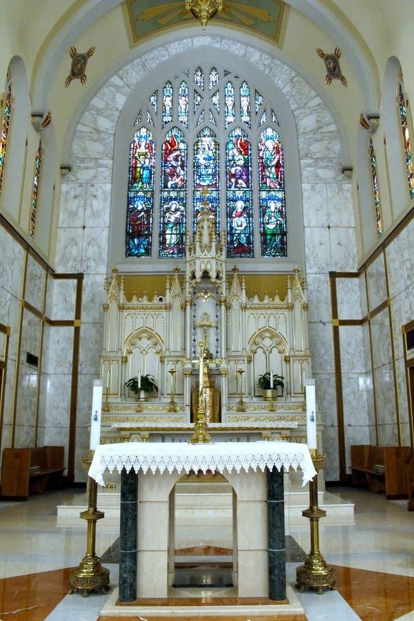 Святые изменяют на церков Mount Carmel, ферзей стоковая фотография