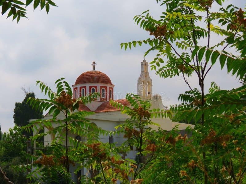 Святые места монастыря Крита-Arsani стоковые изображения rf