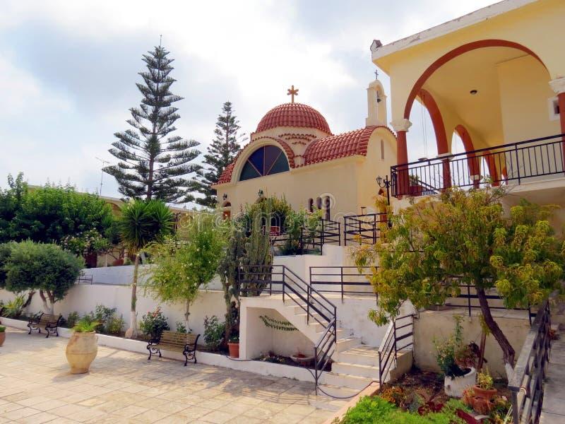 Святые места монастыря Крита-Arsani стоковая фотография