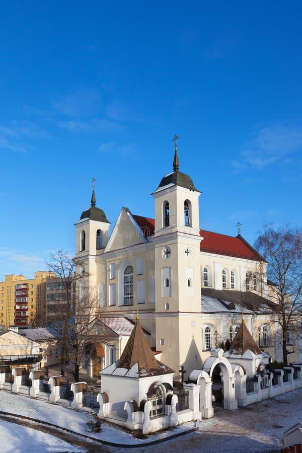 Святые Питер и церковь Пола в Минске стоковое изображение