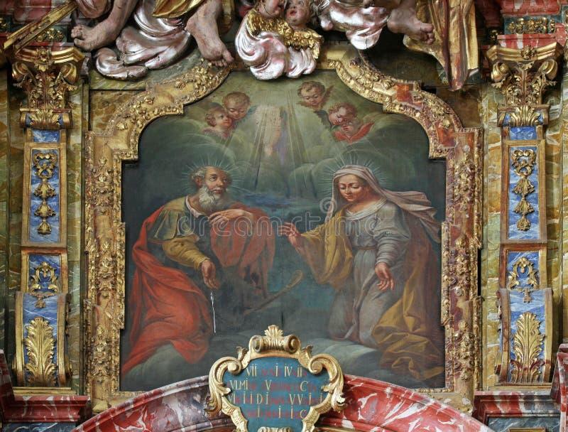Святые Энн и Joachim стоковое фото