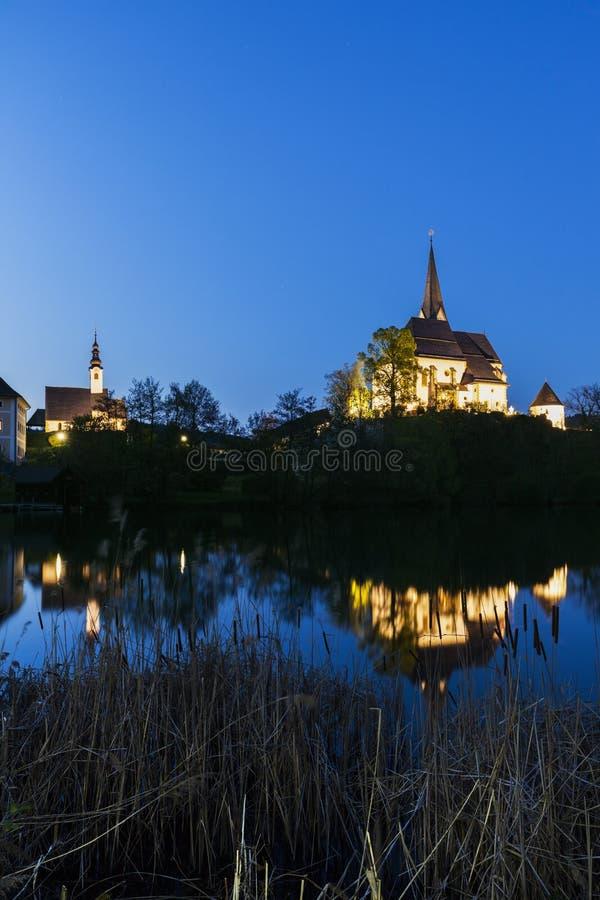 Святые Primus и церковь Felician в стоимости Марии стоковое фото rf