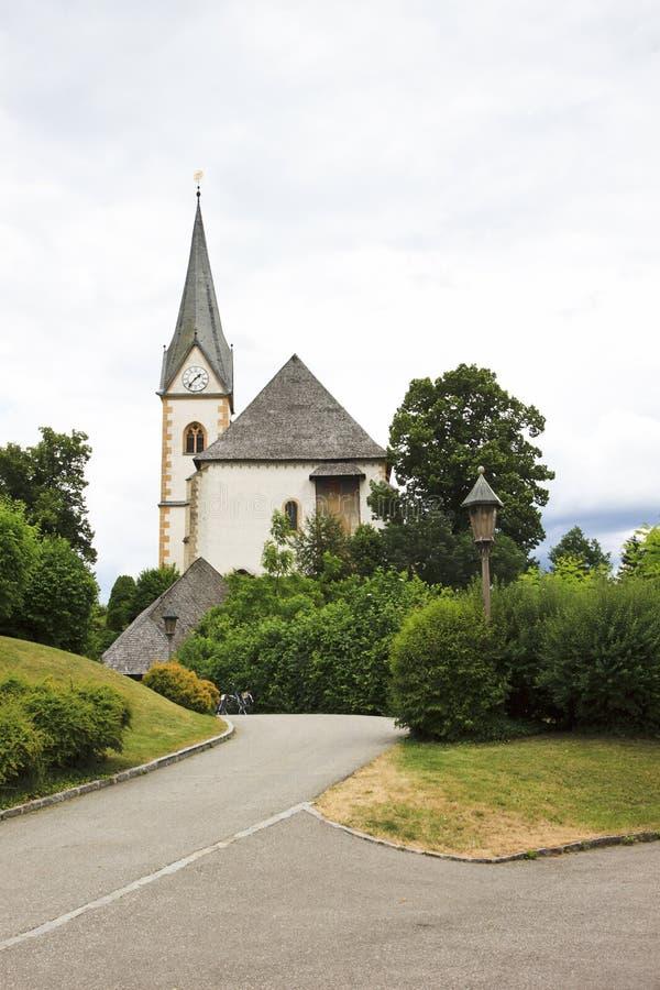 Святые Primus и церковь Felician, Мария Wörth стоковые фотографии rf