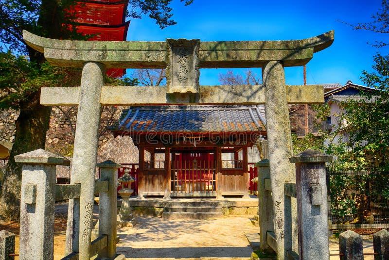 Святыня Araebisu синтоистская, Miyajima, Япония стоковое фото rf