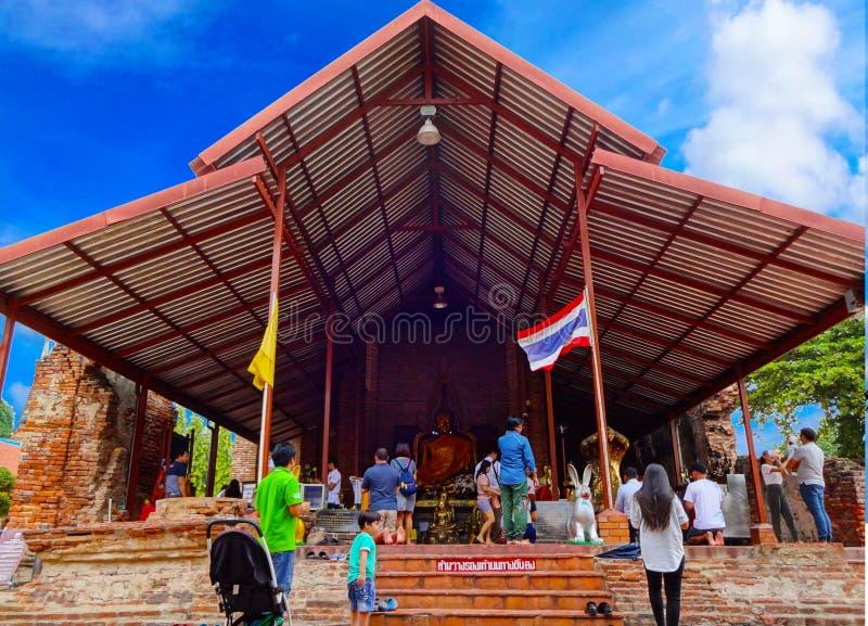 Святыня Ayutthaya виска стоковые изображения