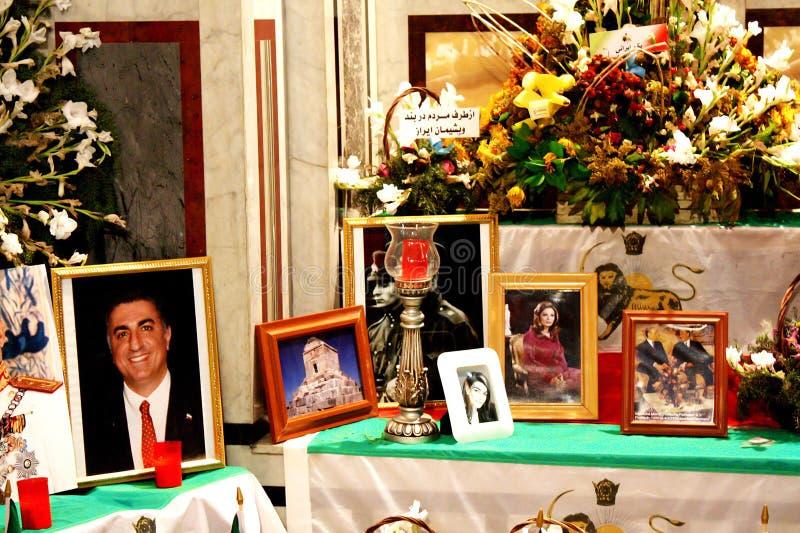 Святыня shah pahlavi reza Ирана в Египте стоковое фото