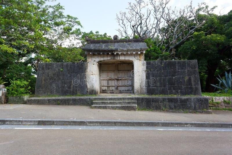 Святыня Sonohyan Utaki замка Shuri, Японии стоковое изображение rf
