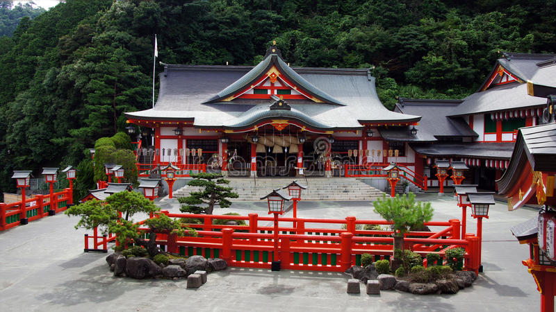 Святыня Taikodani Inari в Tsuwano стоковые изображения rf