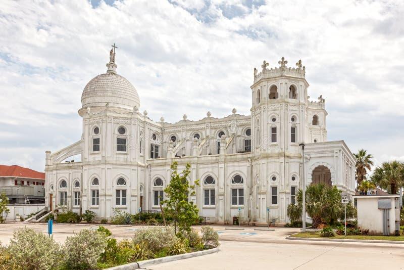Священная церковь в Галвестоне, Техас сердца стоковые фотографии rf