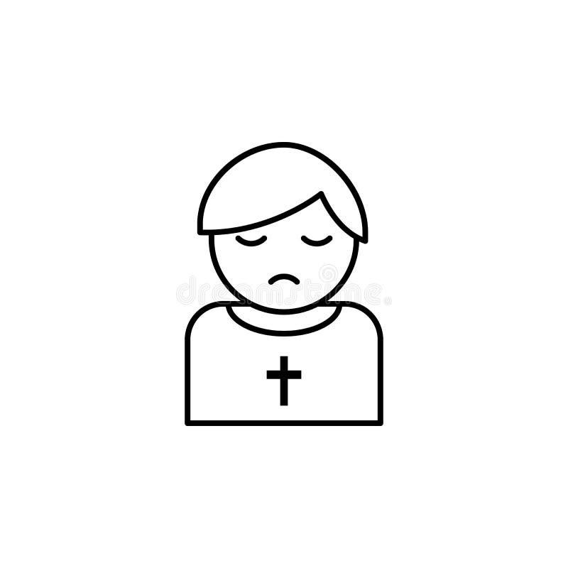 священник, значок плана смерти детальный набор значков иллюстраций смерти r иллюстрация штока