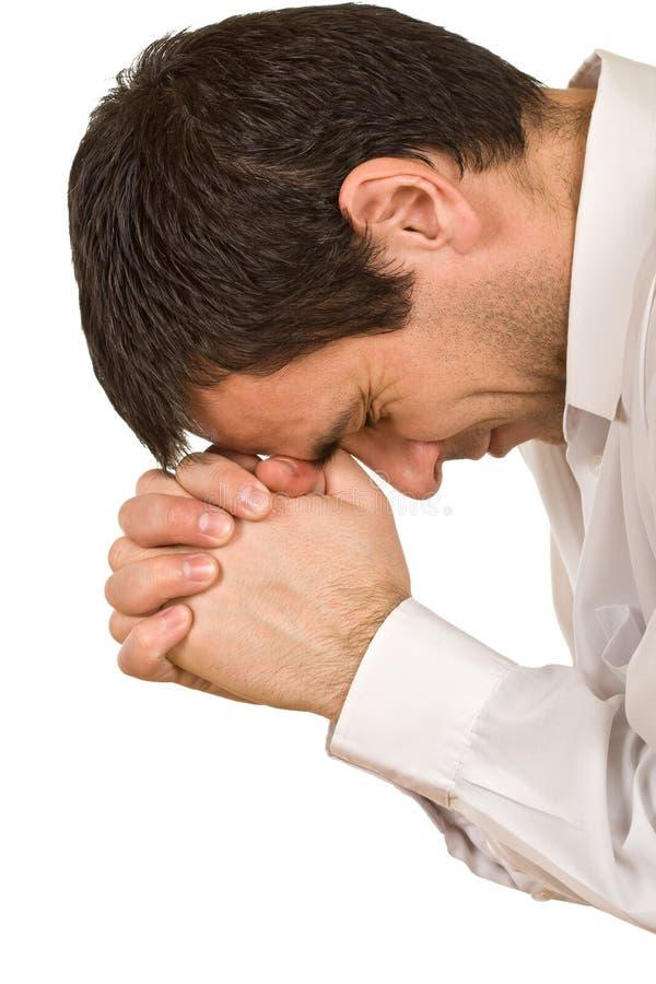 священник молит стоковое фото rf