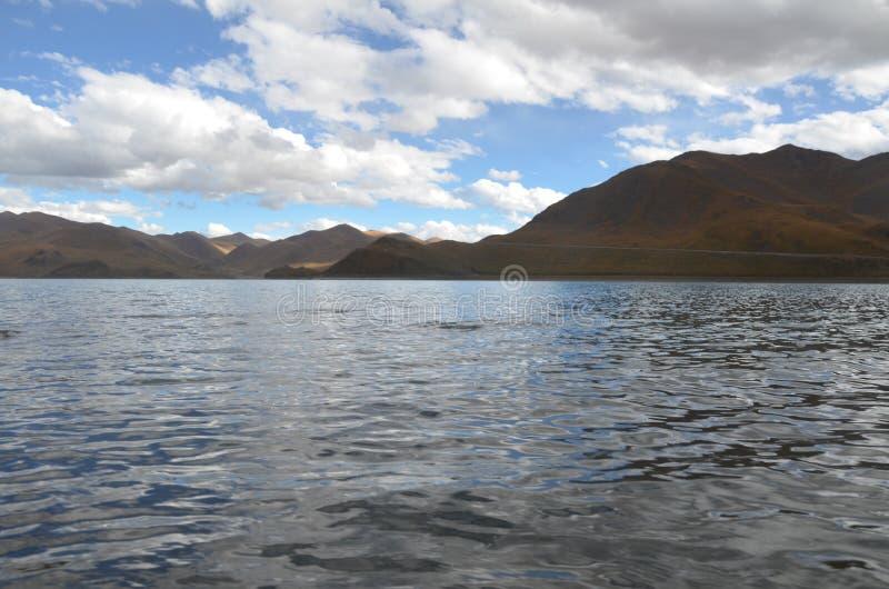Священное озеро плато стоковое фото rf