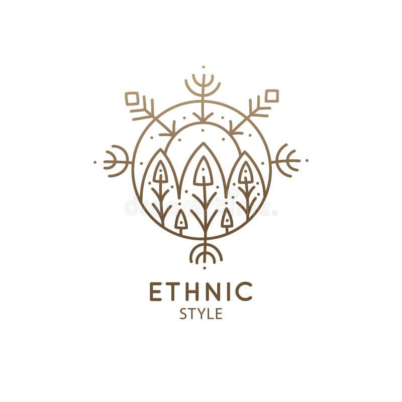 Священный геометрический символ иллюстрация штока